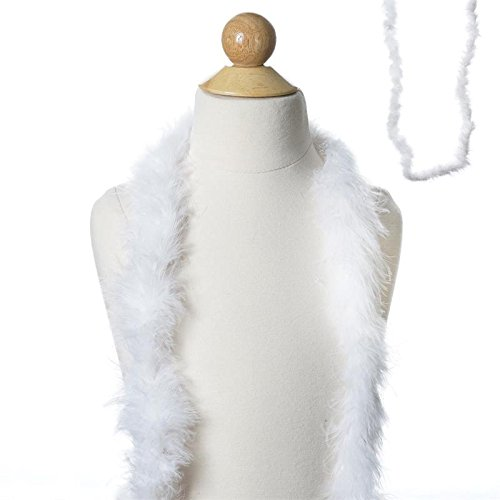 BalsaCircle 6 feet White Ostrich Feathers Boa - Costumes Gifts Dress Up Kids Party Wedding Accessories]()