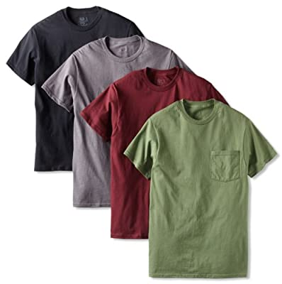 Fruit of the Loom Men's 4 Pack Pocket T-Shirt by Fruit of the Loom
