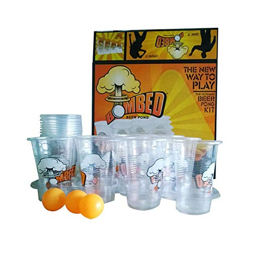 IMSHI Bear Pong Kit - Party Cups & Balls Drinking Game Party Set - Disposable & Reusable - Strong Plastic Shot Glasses for Parties, Games, Celebrations, Christmas, Halloween, ()