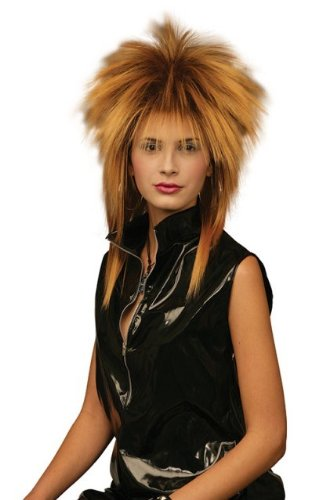 [Tina Turner Black/Gold Fancy Dress Wig Inc FREE Wig cap] (Tina Turner Wig)