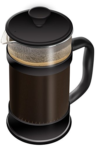 French Coffee Press - 34 oz Espresso and Tea Maker with Triple Filters, Stainless Steel Plunger and Zeal Resistant Glass - Utopia Kitchen