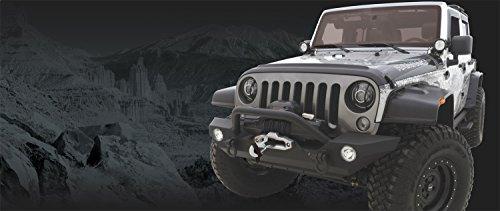 (RAMPAGE PRODUCTS 99306 Black Rock Rage Front Bumper for 2007-2018 Jeep Wrankler JK & JKU)
