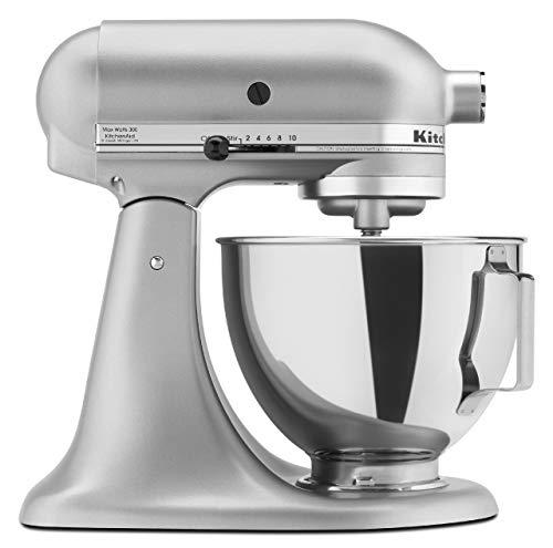 KitchenAid KSM85 4.5-Quart Tilt-Head Stand Mixer - Silver Metallic (Silver Kitchenaid Mixer)