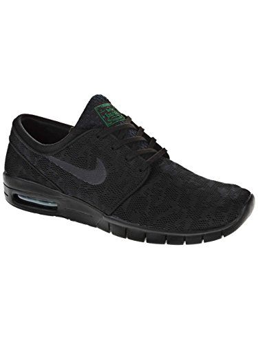 Nike Stefan Janoski Max, Unisex Adults' Low-Top Sneakers Black / Green (Black / Black-pine Green)