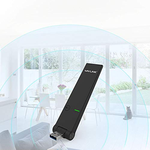 WAVLINK AC1300 Dual Band USB 3.0 Wireless Network Adapter, High Speed Long Range WiFi Adapter USB Dongle for PC Computer Desktop Laptop, Supports Windows XP/Vista/7/8/10, Mac OS by WAVLINK (Image #6)