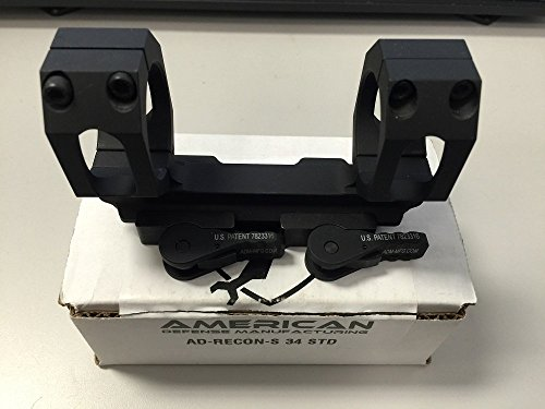 American Defense AD-RECON-S 34 STD Riflescope Optic Mount, Black by American Defense Mfg.