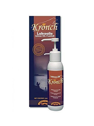 Lakse Kronch 100% Cold Pressed Wild Salmon Oil for Cats & Dogs 17.6 oz by Lakse Kronch (Salmon Kronch Lakse)