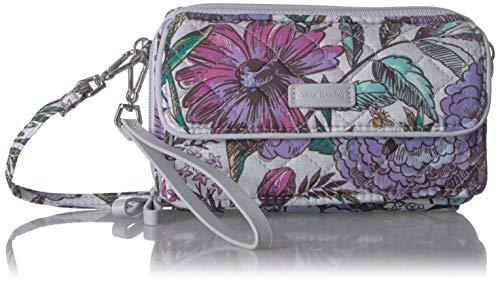 Vera Bradley Iconic RFID All in One Crossbody, Signature Cotton, Lavender Meadow