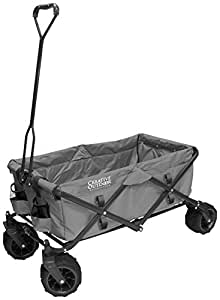 Creative Outdoor Distributors Original Folding Garden Wagon, Gray