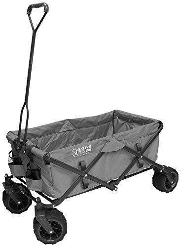 Creative Outdoor Distributor 900210-Grey All-Terrain Folding Wagon, Gray