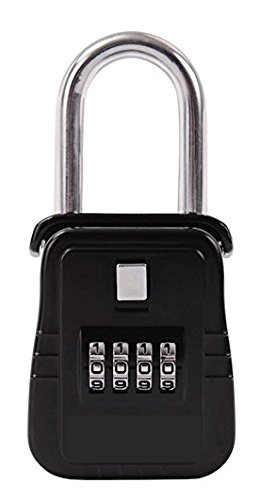 Real estate combination lock box for up to 4 keys and easily programmable so you can set your own combination with up 10,000 different variations