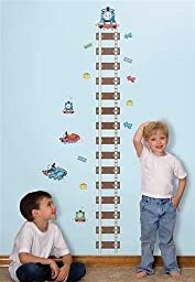 THOMAS the TRAIN Growth Chart Wall Stickers KIDS Room Decor Vinyl Decals TRACKS
