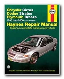 Haynes repair manual chrysler cirrus dodge stratus and plymouth flip to back flip to front fandeluxe Gallery
