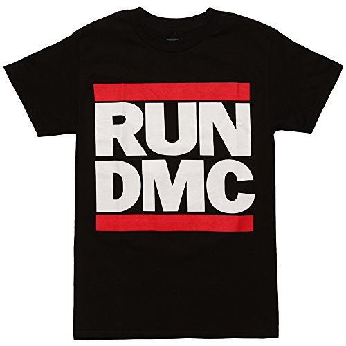 MERCH ARTIST Run DMC Classic Logo Adult T-Shirt - Black (X-Large) ()