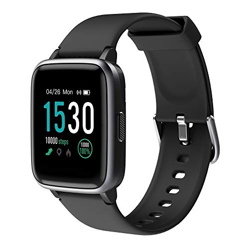 KUNGIX Smart Watch, Full Touch Screen Fitness Tracker with Heart Rate Monitor, 5ATM Waterproof...