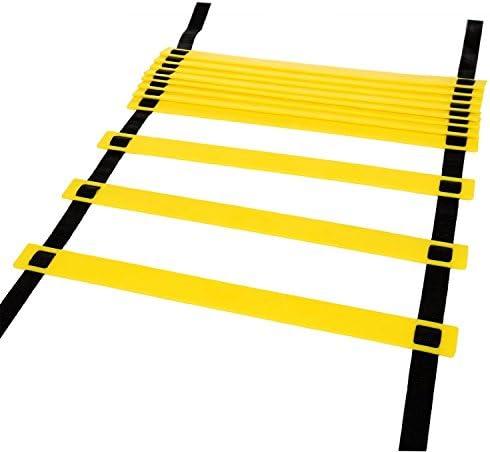 Hikpro Escalera de Entrenamiento de 6 metros con 12 peldaños para agilidad de grupos variados: Amazon.es: Deportes y aire libre