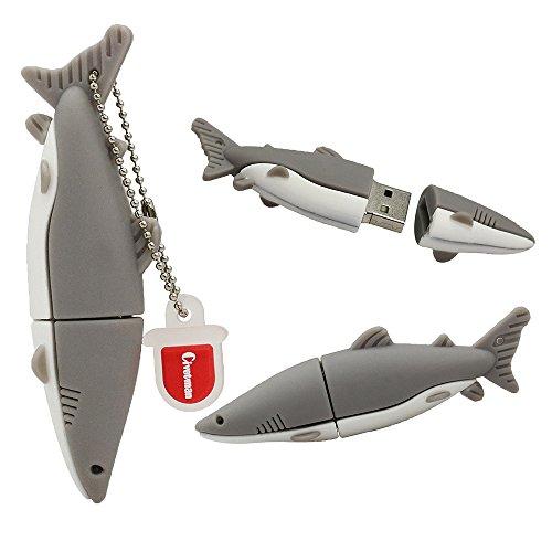 128 GB Flashdrive Gray Pendrive Shark Fish USB Flash Drive Memoria Thumb Stick