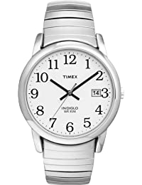 Timex Men's Round Silver Tone with Stainless Steel Expansion Band 2H451