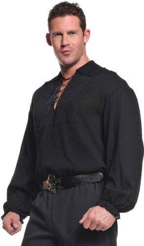 Pirate Costume Black Shirt (Underwraps Costumes  Men's Renaissance Pirate Shirt -Plus, Black, XX-Large)