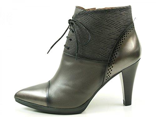 de para Grau Mujer Cuero Botines Ankle Hispanitas Eiffel Boots HI63525 q1xTBFt