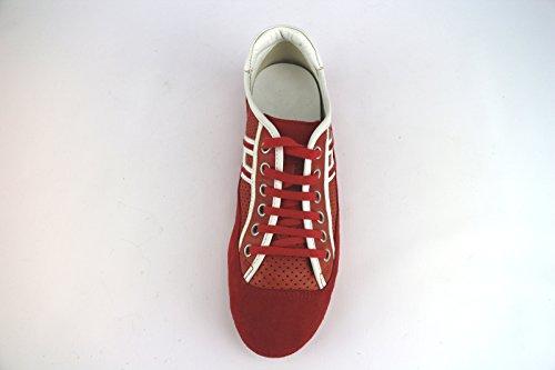 HOGAN sneakers donna rosso camoscio pelle AH665