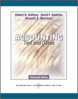 Accounting texts and cases robert n anthony kenn david f hawkins accounting texts and cases robert n anthony kenn david f hawkins 9780071289092 amazon books fandeluxe Gallery