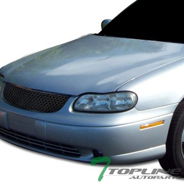 Topline Autopart Black Honeycomb Mesh Front Hood Bumper Grill Grille Cover ABS 97-99 Chevy Malibu