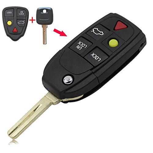 5 Button Remote Fob Key Shell for VOLVO XC90 S60 S80 V70 XC70 XC90 S80 S60 V70 XC70 2004-2011 No Chip