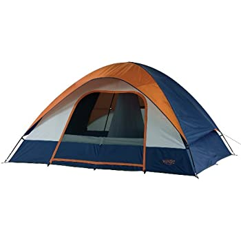 Amazon.com : Wenzel Salmon River 2 Room Family Dome Tent, Orange ...
