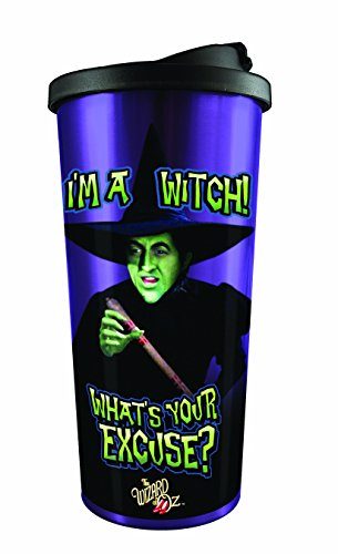 Spoontiques I'm A Witch Stainless Steel Travel Mug, Purple ()
