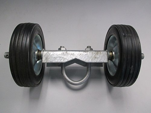 6'' ROLLING GATE CARRIER WHEELS: for chain link fence rolling gates - rut runner by FenceSmart4U (Image #4)