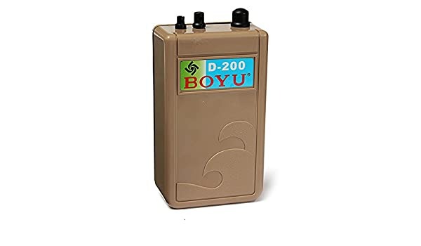 Amazon.com: [Free Shipping] BOYU D-200 Aquarium Air Pump Waterproof Battery For Fish Tank // Resistente al agua boyu d-200 de la bomba de aire del acuario ...