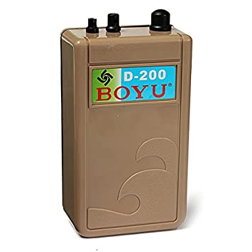 [Free Shipping] BOYU D-200 Aquarium Air Pump Waterproof Battery For Fish Tank