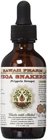 Senega Snakeroot Alcohol-FREE Liquid Extract, Senega Snakeroot Polygala Senega Dried Root Glycerite Herbal Supplement 2 oz