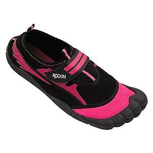 Rockin Footwear Womens Aqua Foot Water Shoes (7, Pink)
