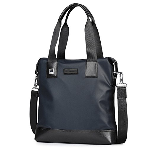 Luckyer Beauty Canvas Männer Frauen Businesstasche zum Umhängen Laptoptasche Aktentasche Unitasche Umhängetasche Blau