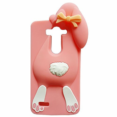 LG G Stylo/LG LS770/G4 Stylus/G4 Note Case, Anya 3D Cute Hot Sale Cartoon Animal Series Style Cartoon Soft Rubber Silicone Back Shell Case Cover Skin for LG G Stylo Rabbit Pink