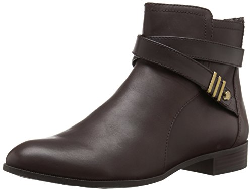 Anne Klein Womens Kael Stivale In Pelle Marrone