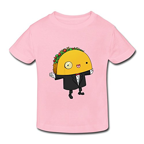 XFSHANG Kids Toddler Cool Style Organic Cotton Cute Cartoon Taco Mustache T-Shirt Pink US Size 2 (Kim Possible Mustache)