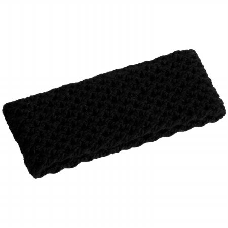 Nirvanna Designs HB10 Merino Lattice Knit Headband, Black