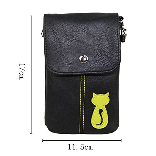 UPC 711811887550, Gonezon - Black PU Leather Universal Cell Phone Vertical Sleeve Cross-body Bag with Detachable Shoulder Strap and Card Slot for iPhone 6 Plus iPhone 6 5S Samsung Galaxy Note 4 Note Edge S5 S6 S6 Edge Alpha HTC One M8 M9 LG G3 G Pro G2 Nexus 5 Nokia Lumia Phones Sony Xperia Series BlackBerry + Dolphin Decorate Strap