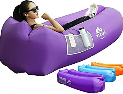 WEKAPO Inflatable Lounger Air Sofa Hammock-Portable,Water Proof& Anti-Air Leaking Design-Ideal Couch for Backyard Lakeside Beach Traveling Camping Picnics & Music Festivals from pengdao