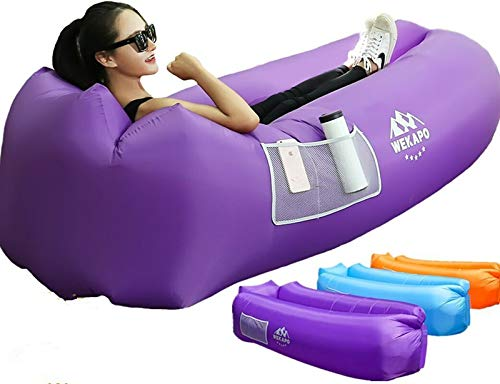 WEKAPO Inflatable Lounger Air Sofa Hammock-Portable,Water Proof& Anti-Air Leaking Design-Ideal Couch for Backyard Lakeside Beach Traveling Camping Picnics & Music Festivals (Best Looking Vagina Ever)