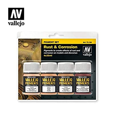 Vallejo Rust & Corrosion Pigment Set 4 x 35ml Paint: Toys & Games