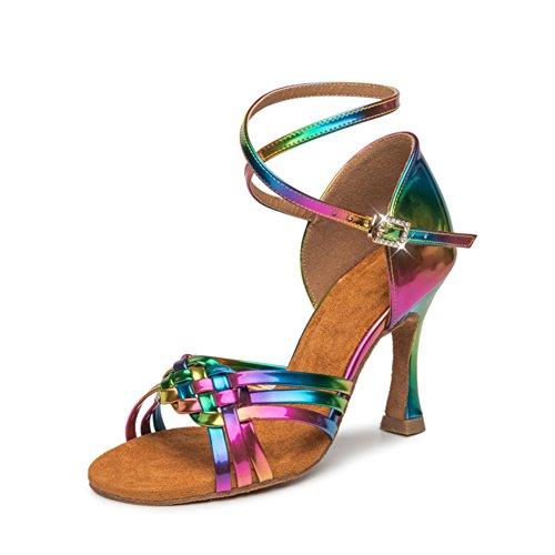 GUOSHIJITUAN Señoras Zapatos De Baile Latino,Fondo Blando Zapatos De Salón De Baile De Mujer Zapatos De Baile De Salón Tacón Alto Zapatos De Baile D