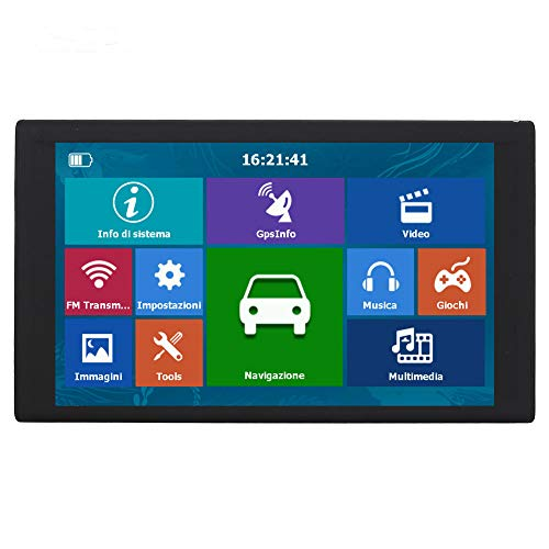 (DishyKooker 256MB+8G HD 9 inch Capacitive Touch Screen Portable GPS Navigator S900 Map of Europe)
