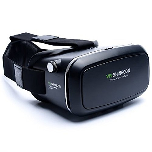 3D BOX VR Glasses Virtual Reality Headset Helmet 3D Dynamic Glasses for 3.5 to 6 inch Smartphone black-Megach