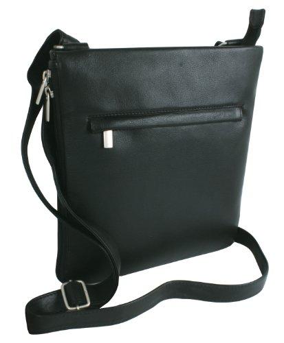 Bodybag LOUANA in Echt-Leder, schwarz, 26x27cm