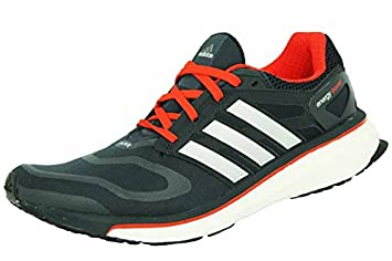 the latest e1787 d21b9 adidas ENERGY BOOST M Zapatillas par Correr Running Negro Rojo para Hombre  TechFit  Amazon.es  Deportes y aire libre