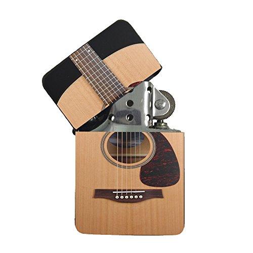 Guitar Lighter (Play Acoustic Guitar Black Flip Top Cigarette Lighter)